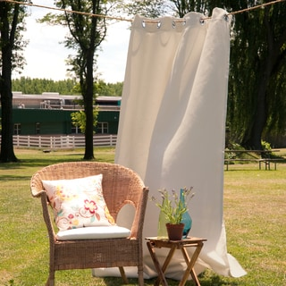 Aurora Home Outdoor Oxford Grommet-top Polyester 84-inch Curtain Panel Pair