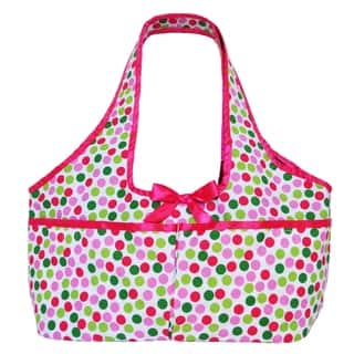 Annloren American Girl Multicolored Cotton Polka Dot Doll Tote|https://ak1.ostkcdn.com/images/products/11892853/P18788027.jpg?impolicy=medium