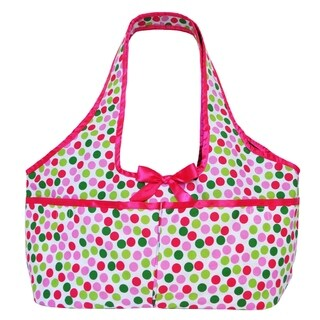 Annloren American Girl Multicolored Cotton Polka Dot Doll Tote (Option: Green)