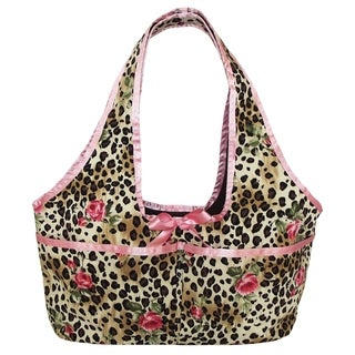 AnnLoren Leopard with Pink Trim Doll Tote