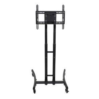 Luxor FP1000 Steel Adjustable Rolling TV Stand