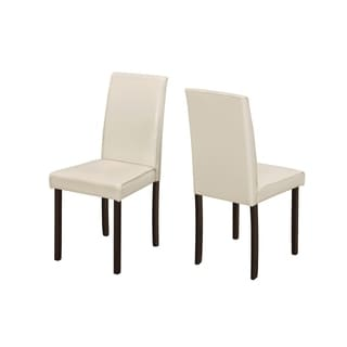 Ivory Leather-look 36-inch Dining Chair (Set of 2)