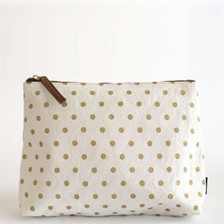Maika Small Gold Polka Dots Pouch