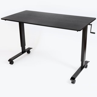 Luxor Black Steel/Laminate Crank-adjustable Stand-up Desk