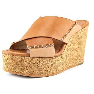 Calvin Klein Jeans Women's Adeli Tan Leather Platform Sandals