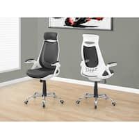 White/Grey Mesh Chrome High-back Executive Office Chair