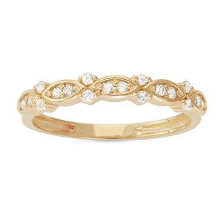 Gioelli 10k Yellow Gold 1/5ct TDW Diamond Eternity Band Ring