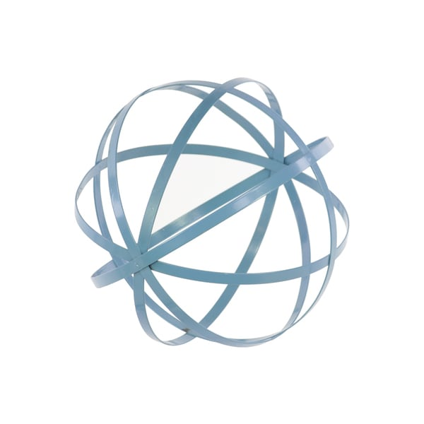 Urban Trends Collection Coated Blue Steel Dyson Sphere Orb. Opens flyout.