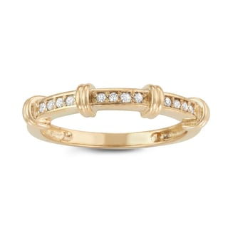 Gioelli 10k Yellow Gold 1/8ct TDW Diamond Eternity Band Ring