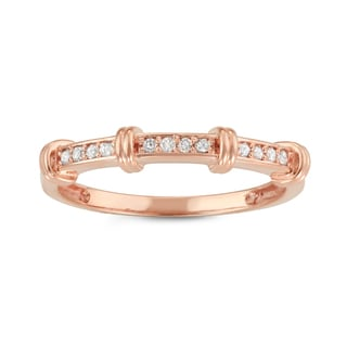 Gioelli 10k Rose Gold 1/8ct TDW Diamond Eternity Band Ring