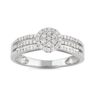 Gioelli 10k White Gold 1/3ct TDW Diamond Eternity Band Ring (H-I, I1-I2)