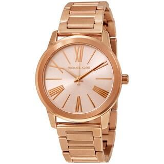 Michael Kors Hartman Rosetone / Goldtone Stainless Steel Women's Quartz Watch