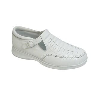 24 Hour Comfort Laura Women Adjustable Extra Wide Width Buckle Shoe