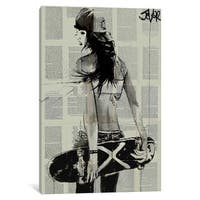 iCanvas Sk8ter Gurl by Loui Jover Canvas Print
