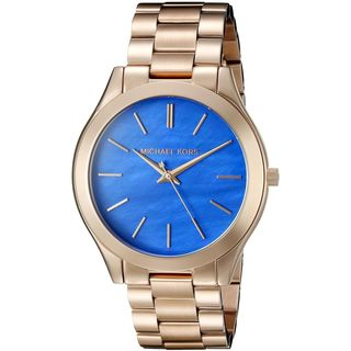 MICHAEL KORS Women's Slim Runway Goldtone Stainless Steel Water-resistant Watch