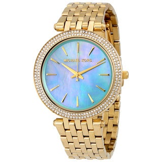 Michael Kors Darci Women's Blue-Green Mother-of-Pearl Dial/Goldtone Bracelet Stainless Steel Watch MK3498