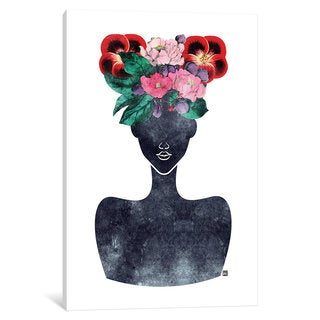 iCanvas Flower Crown Silhouette II by Tabitha Brown Canvas Print