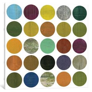 iCanvas Rustic Rounds 4.0 by Michelle Calkins Canvas Print