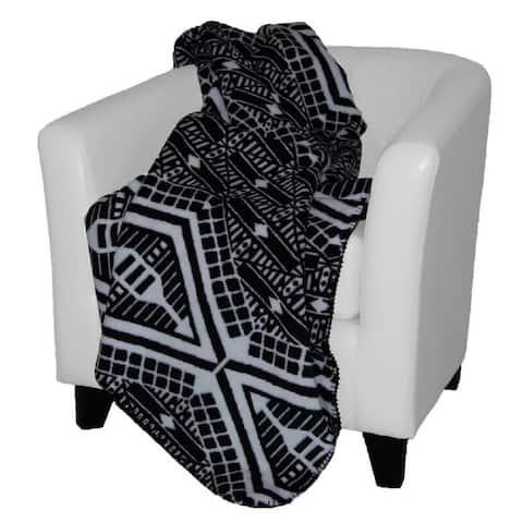 Denali Tribal/ Black Throw Blanket