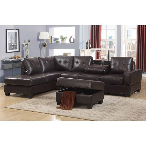 living room sofa set with storage ottoman and drop down table free