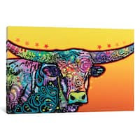 iCanvas The Longhorn by Dean Russo Canvas Print
