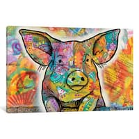 iCanvas The Pig by Dean Russo Canvas Print