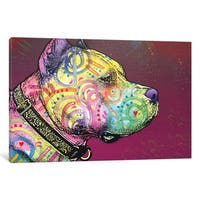 iCanvas Pit Bull Soul by Dean Russo Canvas Print