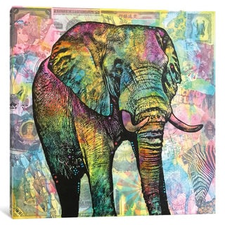 iCanvas Elephant Torn by Dean Russo Canvas Print