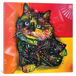 iCanvas Albert The Baby Cat by Dean Russo Canvas Print
