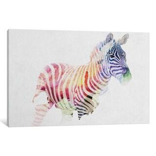 iCanvas Zebra by Andreas Lie Canvas Print