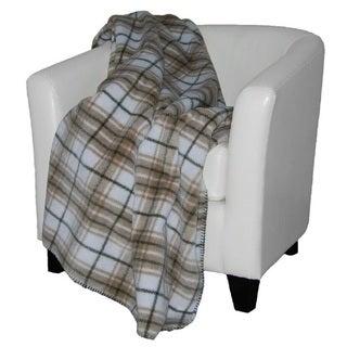 Denali Tartan Plaid Stone/ Sage Throw Blanket