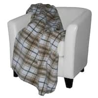 Denali Tartan Plaid Stone/Sage Blanket - 60x70