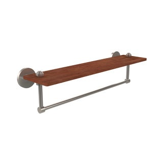 Allied Brass South Beach Collection Solid IPE Ironwood 22-inch Shelf with Integrated Towel Bar