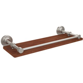 Allied Brass Waverly Place Collection Brass and Ironwood Shelf with Gallery Rail