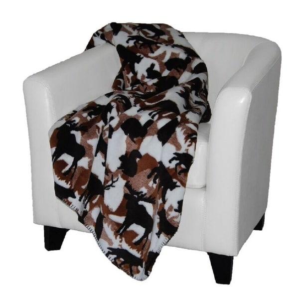 Denalii Theme-o-flage Lodge/ Chocolate Throw Blanket