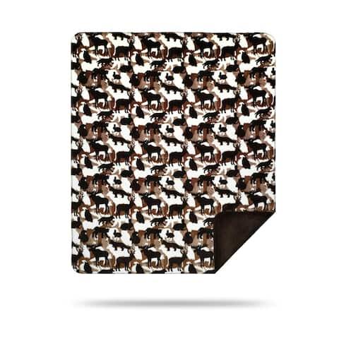 Denali Theme-O-Flage Lodge/Chocolate Blanket - 60x70