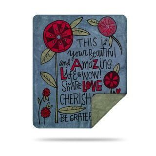 Denali Beautiful and Amazing Life By Sticks/ Sage Throw Blanket