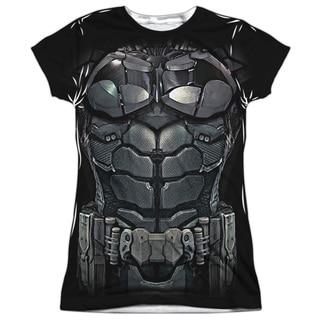 Batman Arkham Knight/Uniform (Front/Back Print) Short Sleeve Junior Poly Crew in White