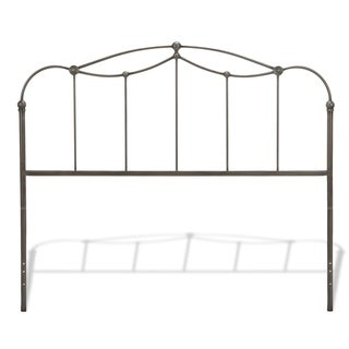 Fashion Bed Group Affinity Metal Headboard Panel with Straight Spindles and Detailed Castings