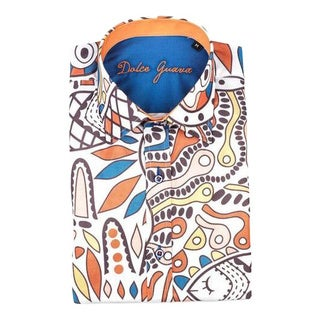 Dolce Guava Men's Multicolored Patterned Button-down Shirt