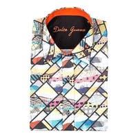 Dolce Guava Men's Multicolored Cotton Patterned Button-down Shirt