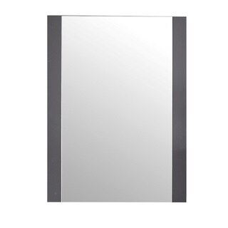The LUXE by Deluxe Vanity Rushmore Collection Grey Wood 24-inch Mirror
