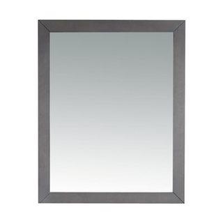 Odyssey Collection Grey Wood-framed Mirror