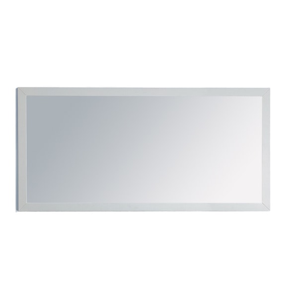 Grazia collection painted wood framed 60 inch mirror for 60 inch framed mirror