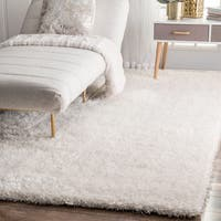 nuLOOM Handmade Soft and Plush Dream Shag Ivory Rug - 7'6 x 9'6