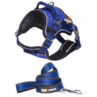 Helios Chest Compression Black, Blue or Pink Nylon, Mesh 2.75-inch x 17.25-inch x 20.2-inch Reflective Dog Harness and Leash