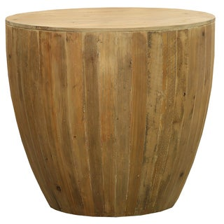 Brown Teak 25.5-inch x 23.5-inch End Table