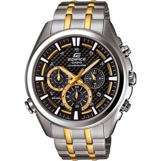 Casio Men's EFR-537SG-1AVCF Neon Illuminator Two-Tone Stainless Steel Watch