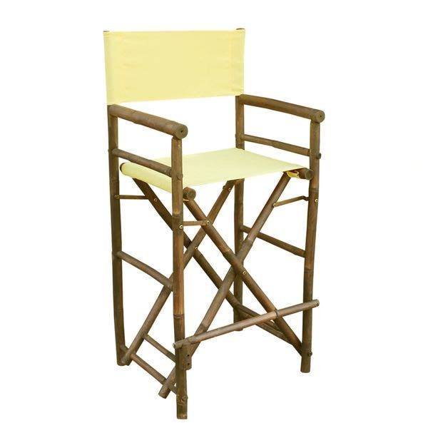 Miraculous Shop Zew Handcrafted Espresso Bamboo Bar Height Director Onthecornerstone Fun Painted Chair Ideas Images Onthecornerstoneorg