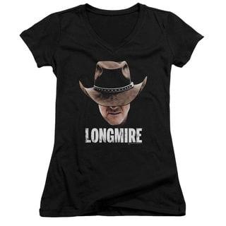 Longmire/Long Haul Junior V-Neck in Black